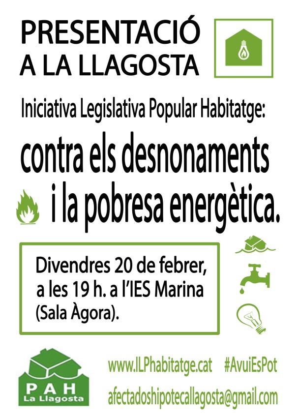 Presentación de la ILP en La Llagosta